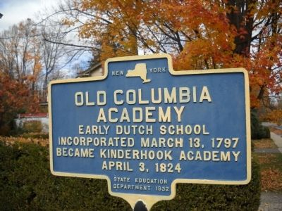Old Columbia Academy Marker image. Click for full size.