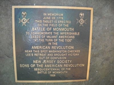 Washington Checked Lee's Retreat Marker image. Click for full size.
