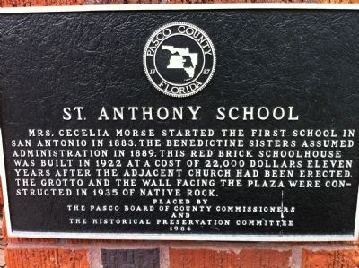 St. Anthony School Marker image. Click for full size.
