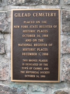 Gilead Cemetery Marker image. Click for full size.