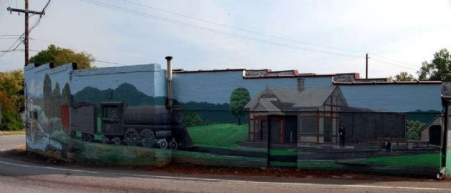 Donalds Town Murial -<br>Intersection of West Main and South Main Streets image. Click for full size.