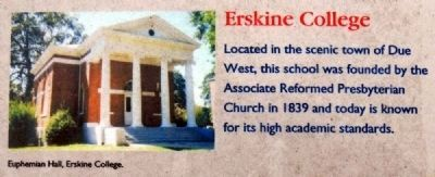 Abbeville County Marker -<br>Erskine College image. Click for full size.