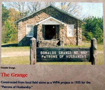 Abbeville County Marker -<br>The Grange image. Click for full size.