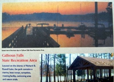 Abbeville County Marker -<br>Calhoun Falls State Recreation Area image. Click for full size.