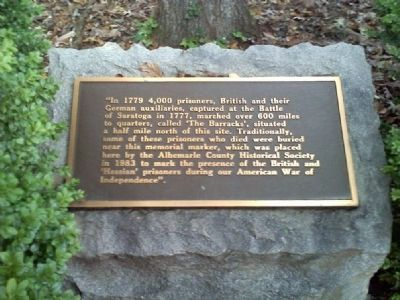 Albemarle Barracks Burial Site Marker image. Click for full size.
