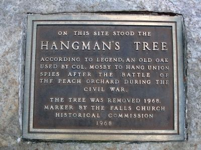 Hangman's Tree Marker Photo, Click for full size