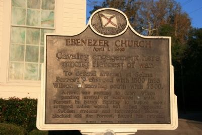 Ebenezer Church Marker image. Click for full size.