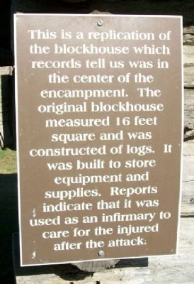 Fort Blair Blockhouse Marker image. Click for full size.