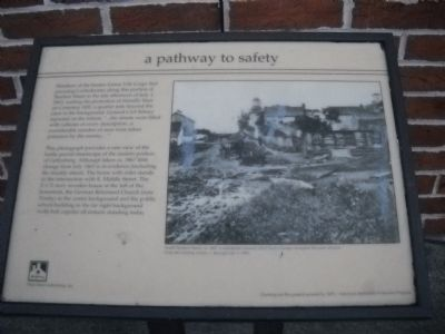 a pathway to safety Marker image. Click for full size.