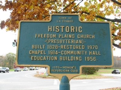 Historic Freedom Plains Church Marker image. Click for full size.