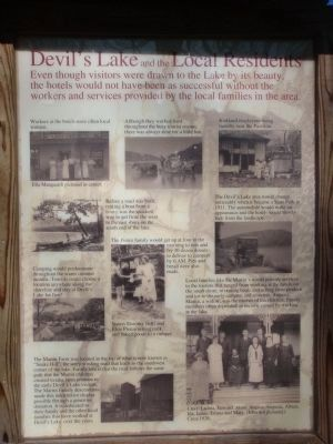 Devil's Lake and the Local Residents Marker image. Click for full size.