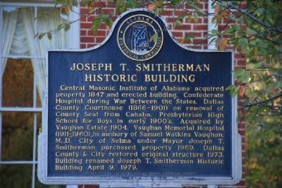 Joseph T. Smitherman Historic Building Marker image. Click for full size.