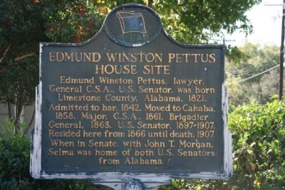 Edmund Winston Pettus House Site Marker image. Click for full size.