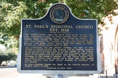 St. Paul's Episcopal Church Est. 1838 Marker (Side A) image. Click for full size.