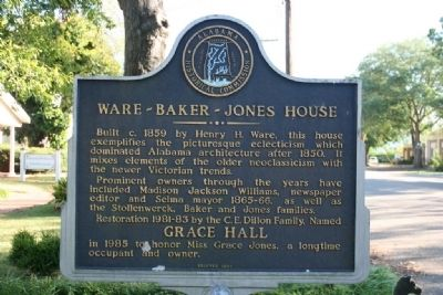 Ware - Baker - Jones House Marker image. Click for full size.