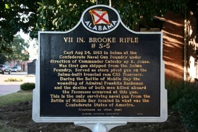 VII In. Brooke Rifle # S-5 Marker image. Click for full size.