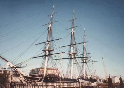"USS Constitution (""Old Ironsides"") image. Click for full size."