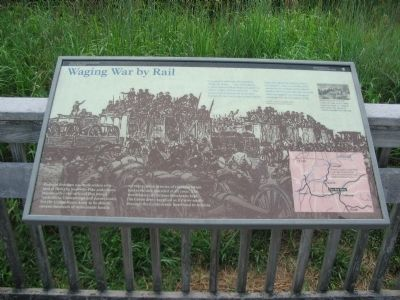 Waging War by Rail Marker image. Click for full size.