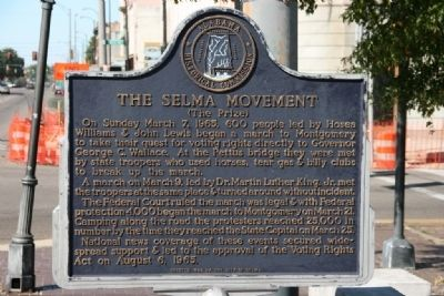 The Selma Movement Marker (The Prize) image. Click for full size.
