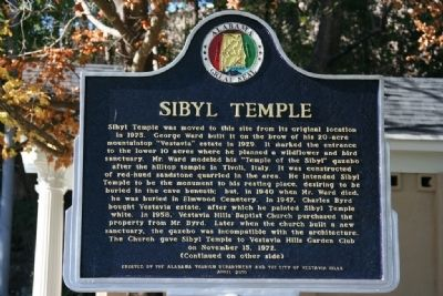 Sibyl Temple Marker (Side A) image. Click for full size.