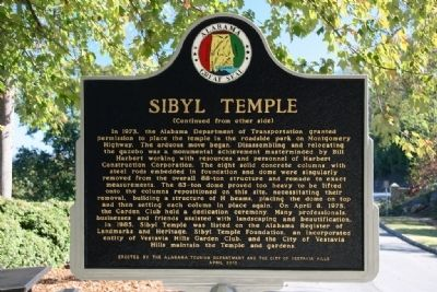 Sibyl Temple Marker (Side B) image. Click for full size.
