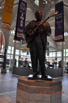 BB King inside Welcome Center near marker image. Click for full size.