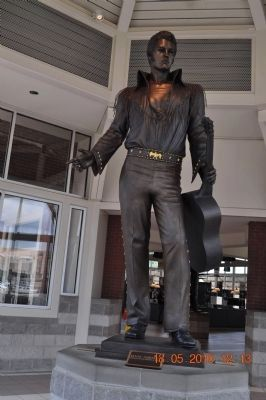 Elvis Presley inside Welcome Center near marker image. Click for full size.