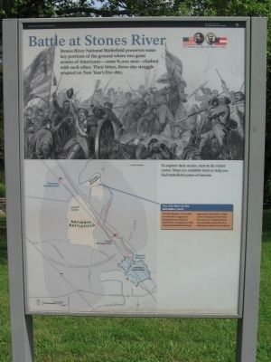Battle at Stones River Marker Photo, Click for full size