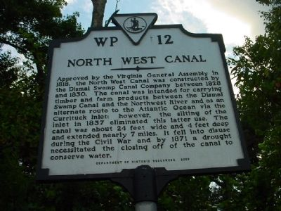 North West Canal Marker image. Click for full size.