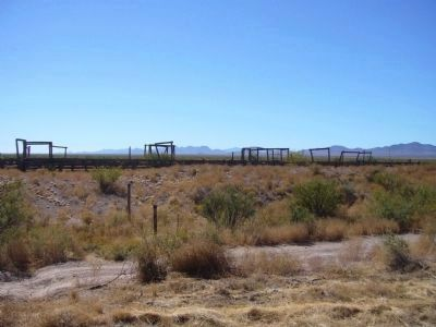Corrals Near the Abandoned Railroad Bed at Playas Siding. image. Click for full size.
