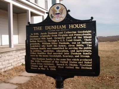 The Dunham House Marker image. Click for full size.