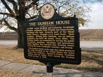Obverse View - - The Dunham House Marker image, Click for more information