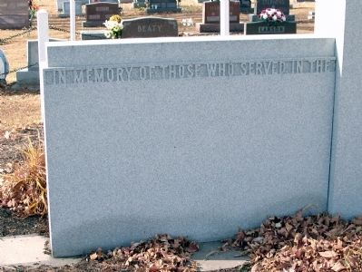 Left Section - - Tipton County (Indiana) Veterans Memorial Marker image. Click for full size.