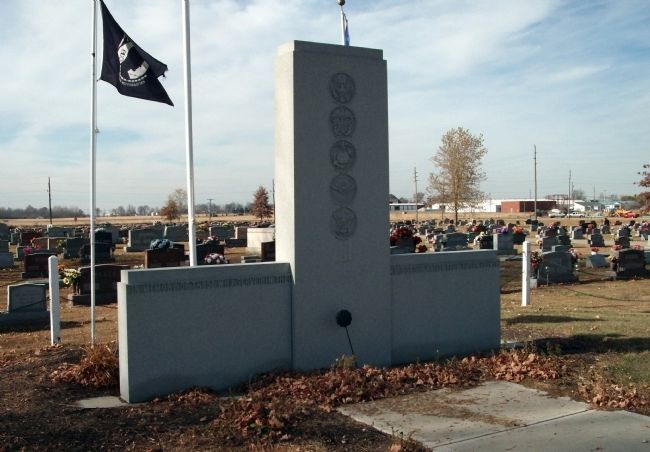 Other View - - Tipton County (Indiana) Veterans Memorial Marker image. Click for full size.