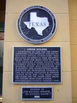 Singer Building Marker image. Click for full size.