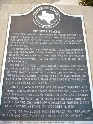 Pioneer Plaza Marker Photo, Click for full size
