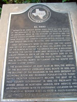 El Paso Marker image. Click for full size.