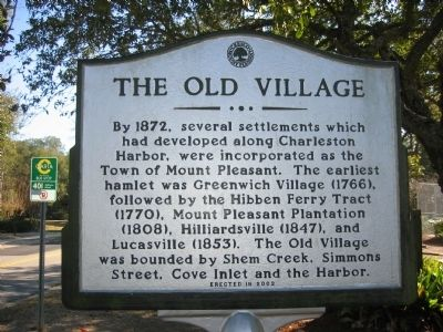 The Old Village Marker image. Click for full size.