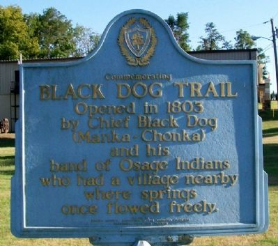 Black Dog Trail Marker Photo, Click for full size