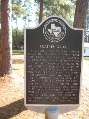 Prairie Grove Marker image. Click for full size.