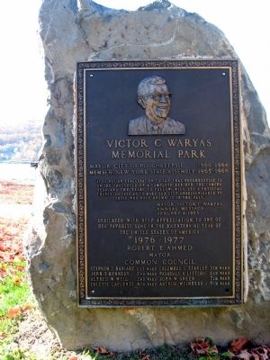 Victor C. Waryas Memorial Park Marker image. Click for full size.