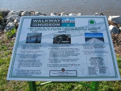 Walkway Over the Hudson Marker image. Click for full size.