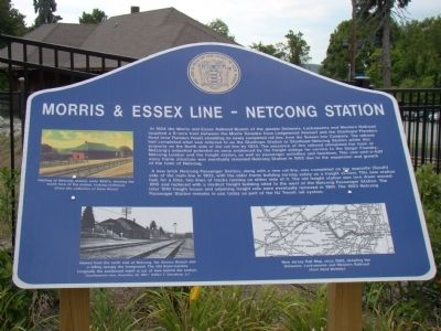 Morris & Essex Line – Netcong Station Marker image. Click for full size.