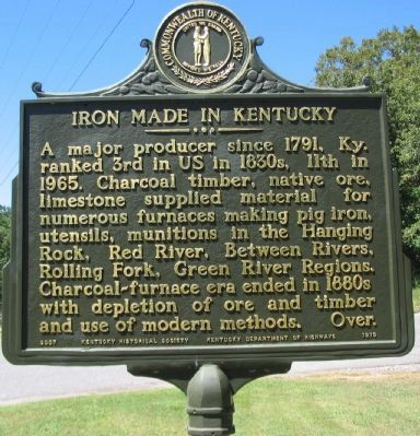 Iron Made in Kentucky Photo, Click for full size