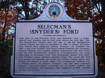 Selecman's (Snyder's) Ford Marker image. Click for full size.