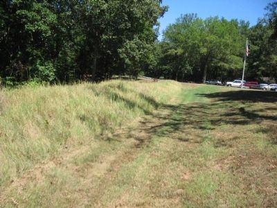Confederate Trenches near the Visitor Center image. Click for full size.