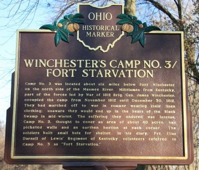 Winchester's Camp No. 3/Fort Starvation Marker image. Click for full size.