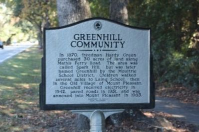 Greenhill Community side of Marker image. Click for full size.