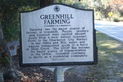 Greenhill Farming side of Marker image. Click for full size.