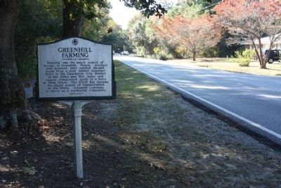 Greenhill Community / Greenhill Farming Marker, looking south image. Click for full size.